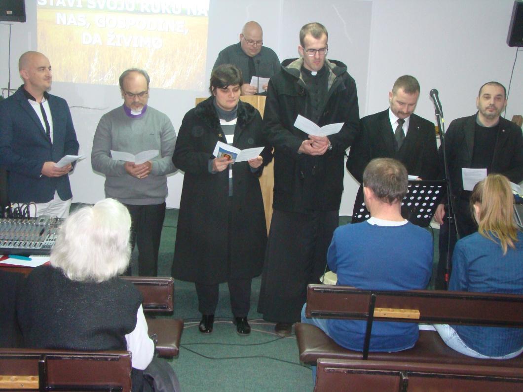Zajednička molitva predstavnika kršćanskih Crkava u Osijeku, kod baptista,25.1.18.